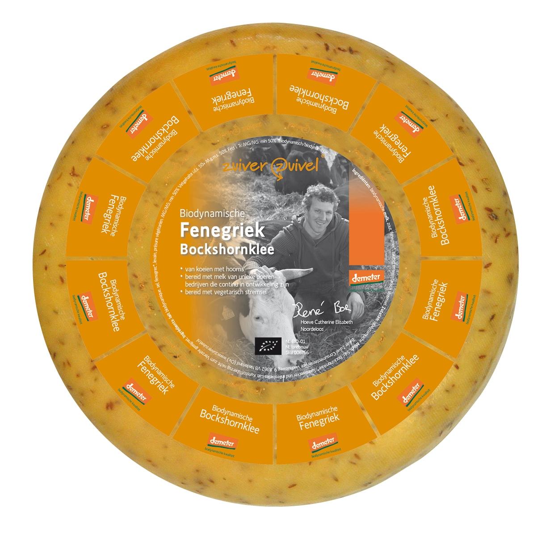 Fenegriek Goudse Biologisch vegetarisch dynamische kaas - Demeter 50+   Vanaf 250gr